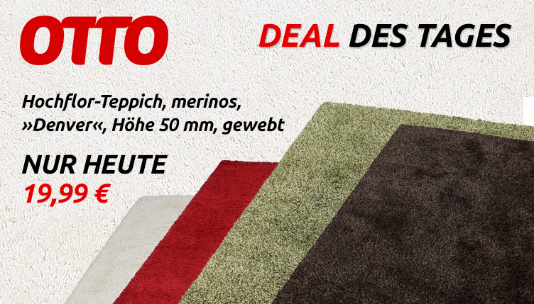 otto deal des tages hochflor teppich denver von merinos. Black Bedroom Furniture Sets. Home Design Ideas