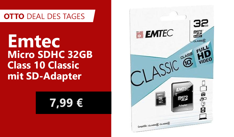 OTTO Deal des Tages Emtec Micro SD